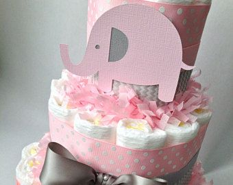 Pink and grey elephant diaper cake chevron diaper cake elephant pink and grey elephant diaper cake chevron diaper cake elephant baby shower centerpiece negle Gallery