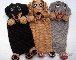 Un perro en un suéter: Doxie frazada-Nuevo patrón!