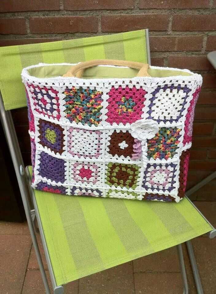 Ah Tas Haken Ah Tas Pinterest Crochet Crocheted Bags And