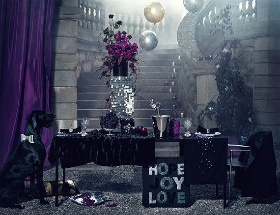 Dramaattinen mustan ja hopean yhdistelmä. Kuva: H&M Home