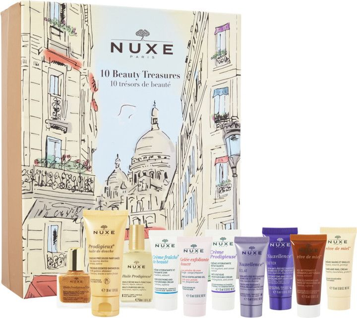 Calendrier De L Avent Nuxe.Nuxe Beauty Countdown Advent Calendar Set Sparkling Beauty