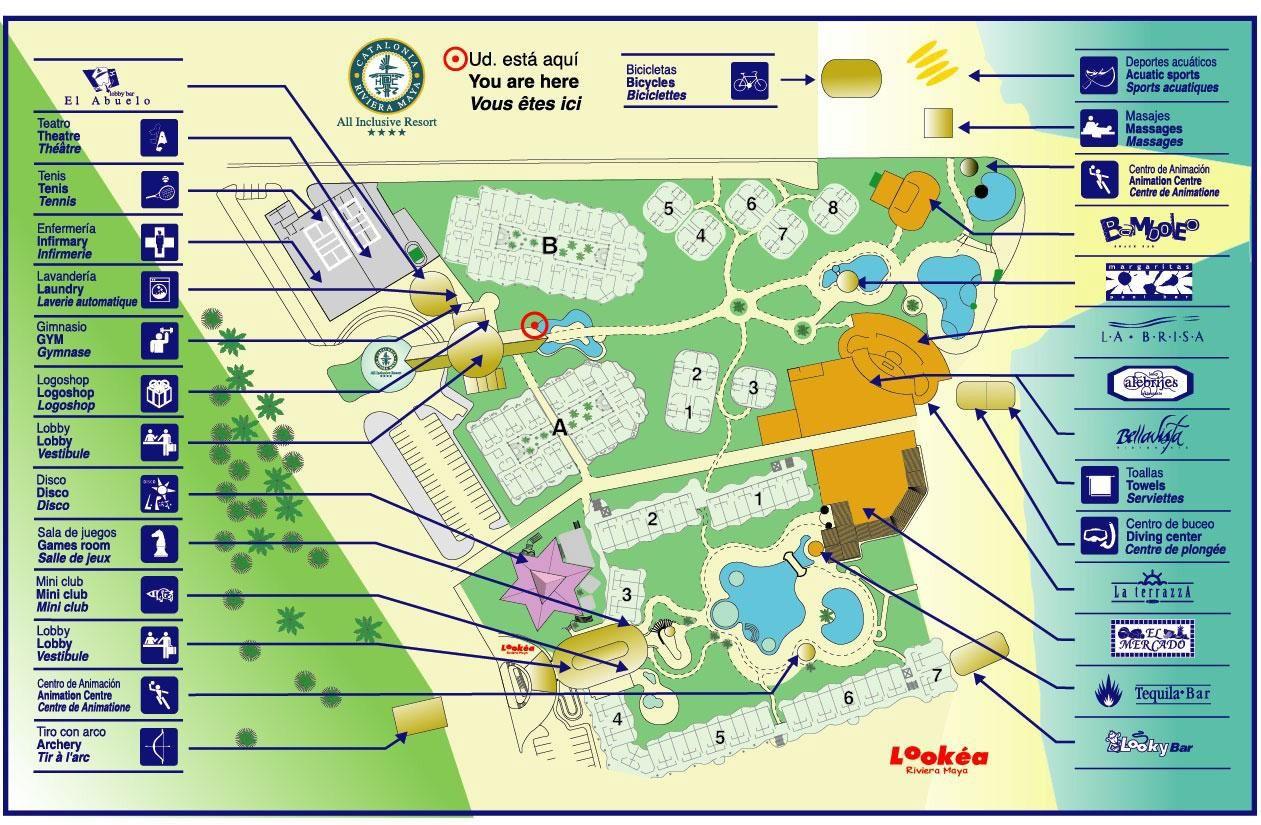 Map Layout Catalonia Yucatan & Riviera Maya   Adventures ...
