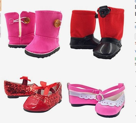 Shoe Box Clothing Accessories for 18 In American Girl Doll TQT Handbag /& Shoes