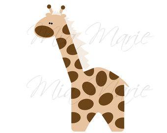 items similar to giraffe clip art baby shower animal clipart rh pinterest com clipart giraffe black and white clipart giraffe head