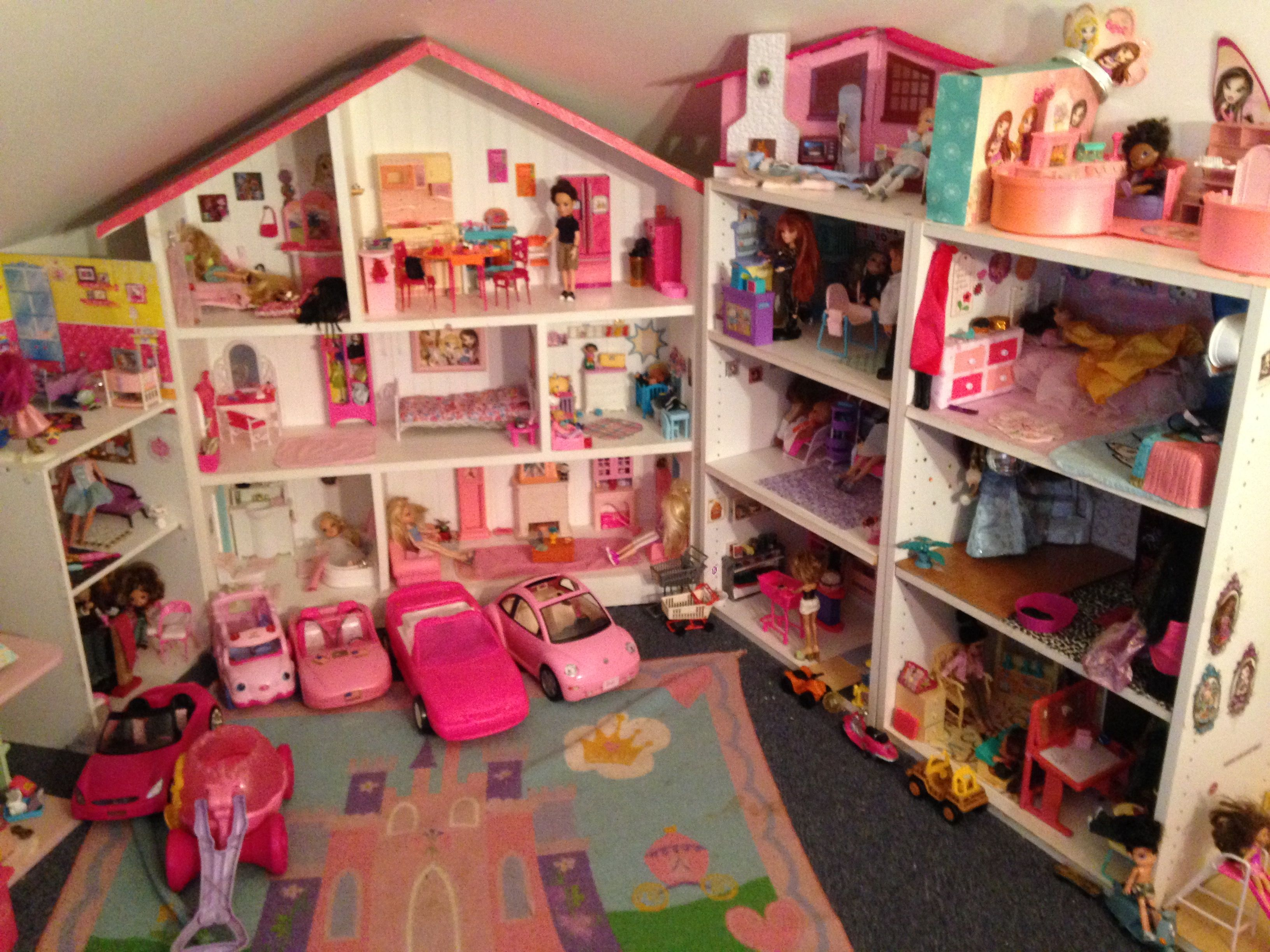 Playroom Dollhouse Update Vehicles, Main Mansion, Shopping Mall, School, And