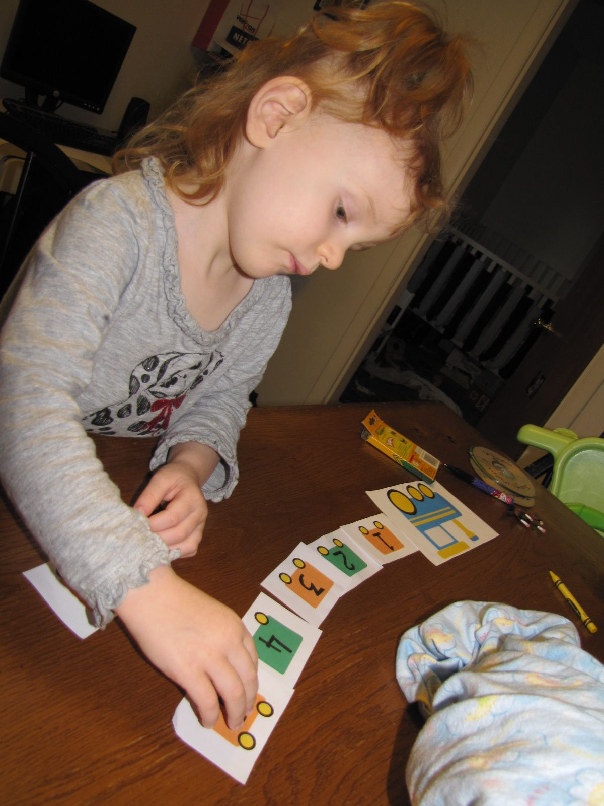Number Sequencing Train