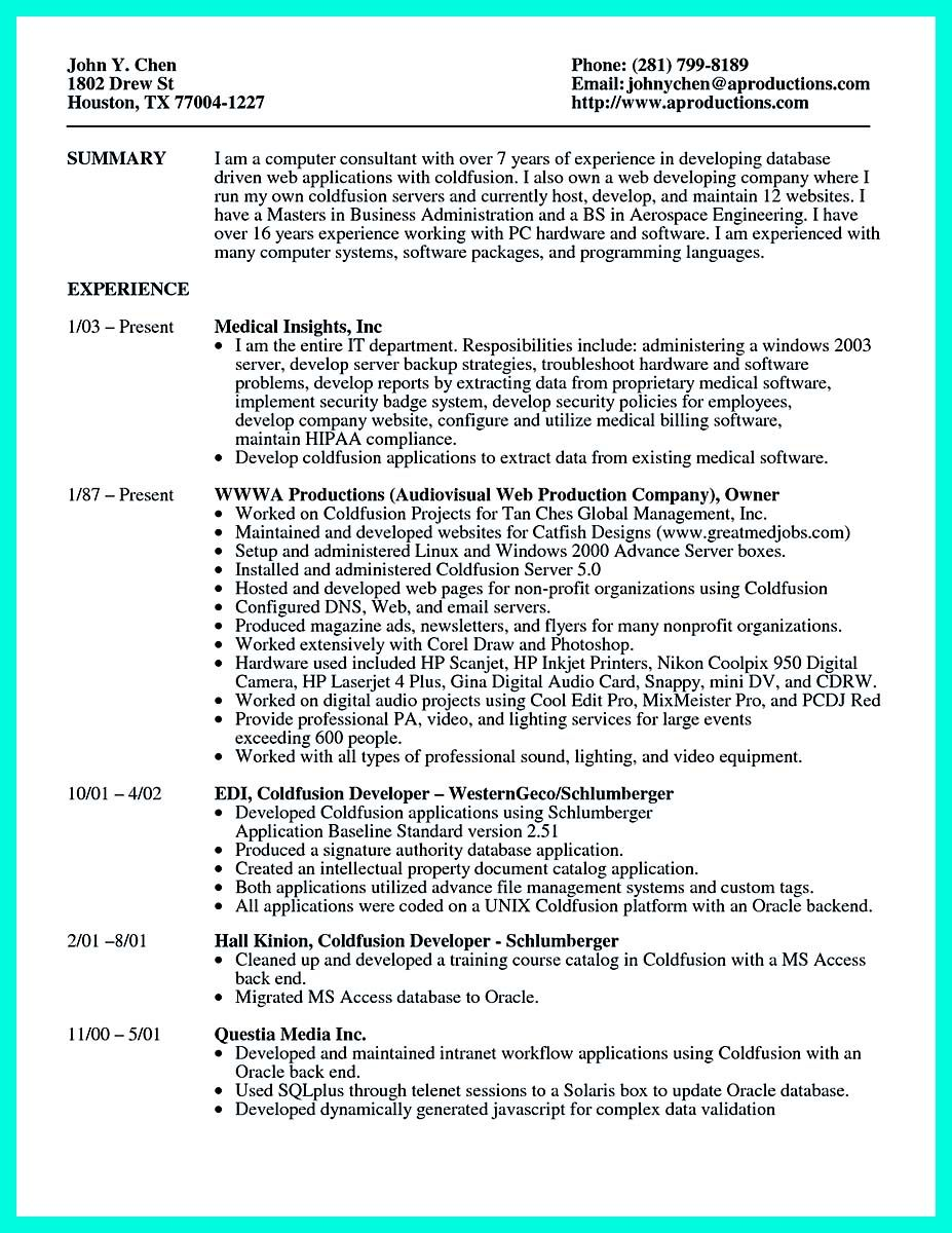 cool Computer Programmer Resume Examples to Impress Employers, Check ...