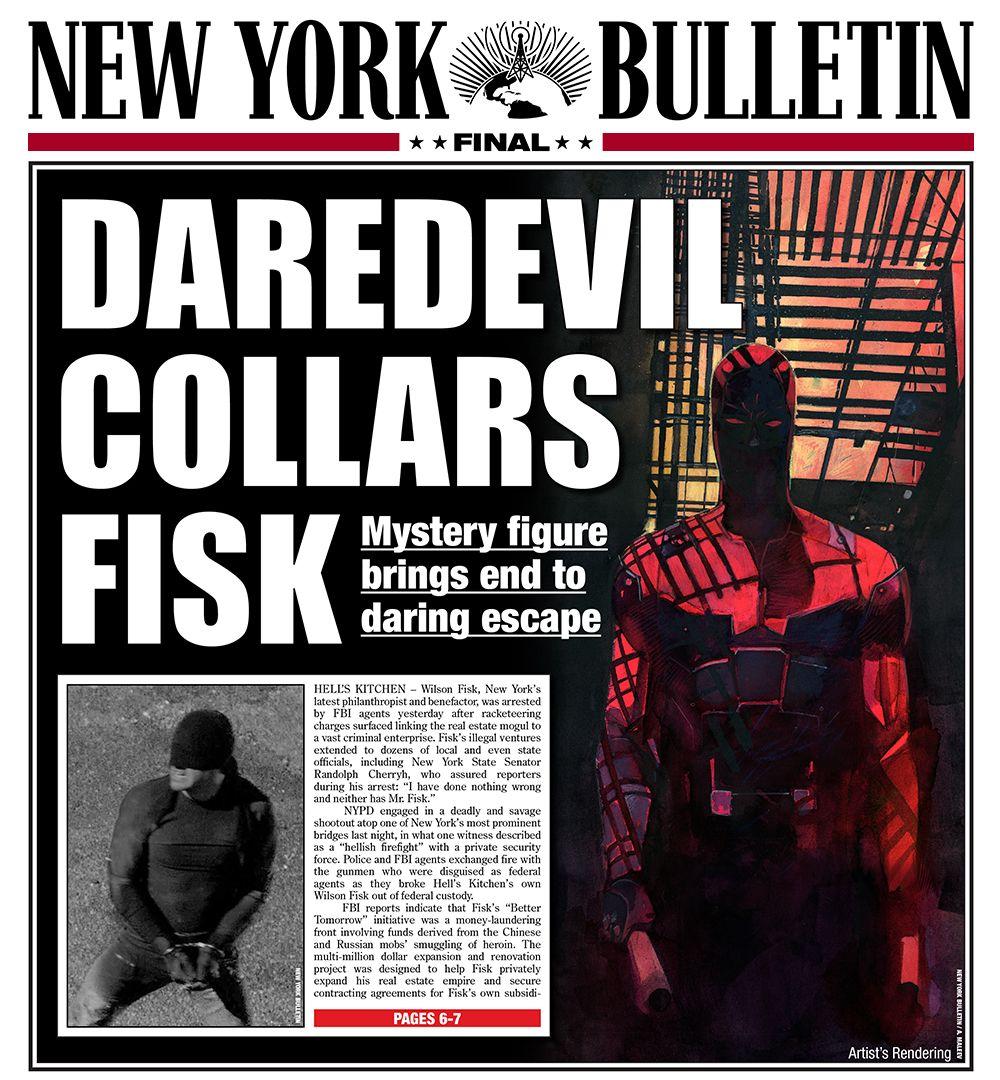 New York Bulletin Daredevil Bulletin Greg Capullo