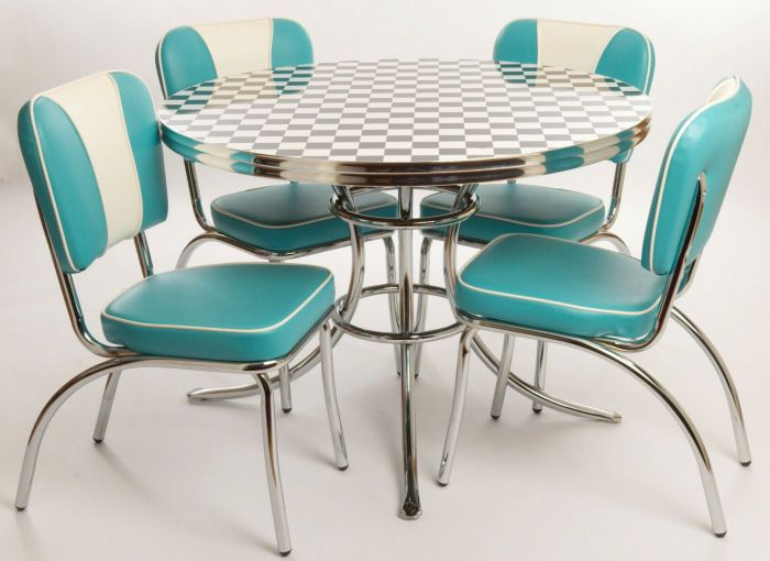 1950 turquoise kitchen warehouse west side set aqua for Teal kitchen table