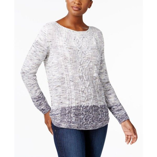 Karen Scott Ombre Cable Knit Cotton Sweater Created For Macys 34