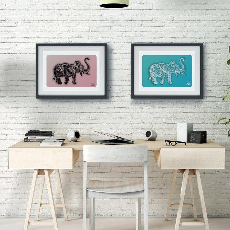 Elephant Black Strokes, art print — Connect ArtDes