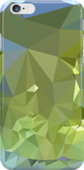 Limerick Green Abstract Low Polygon Background by retrovectors