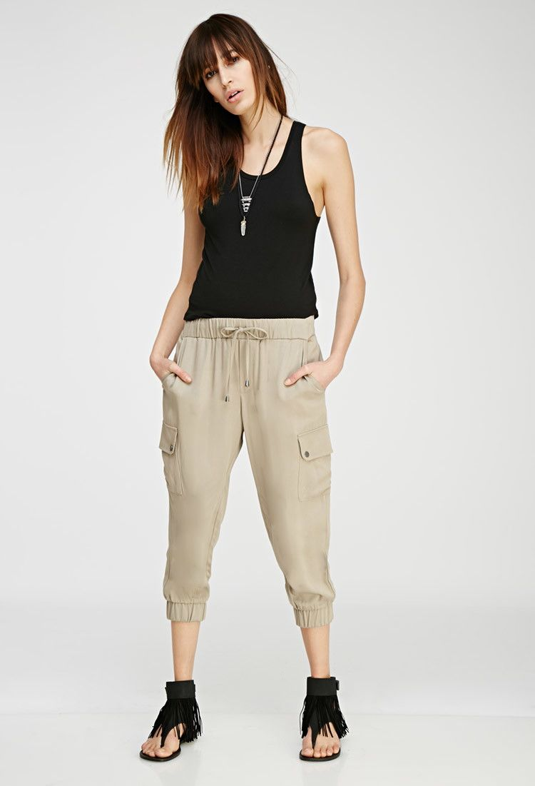 Drawstring Cargo Capris | Survive | Pinterest