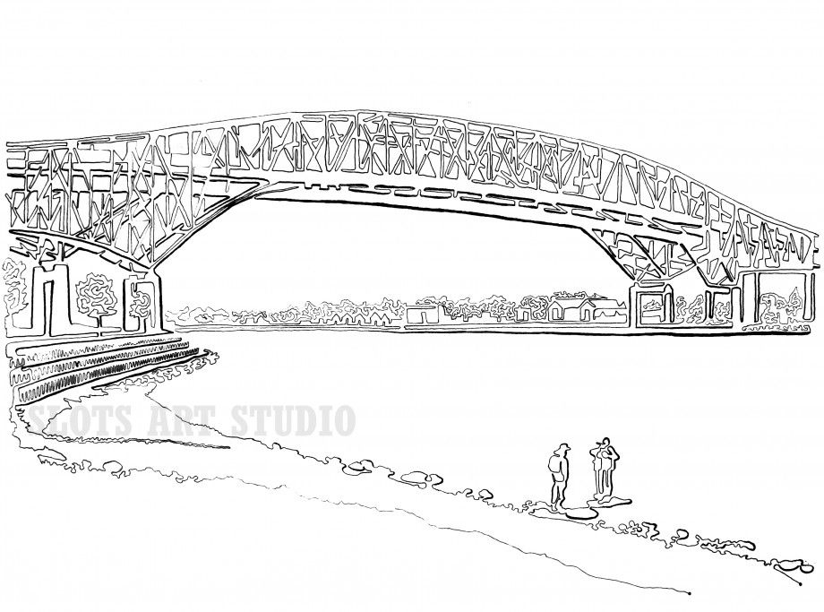 Detailed Line Drawing Bridges Google Search Line Drawing