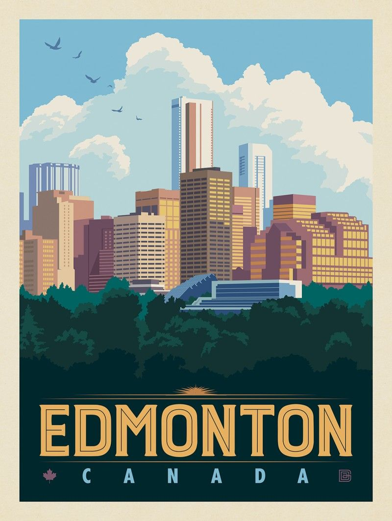 Canada Edmonton Anderson Design Group In 2020 Travel Posters