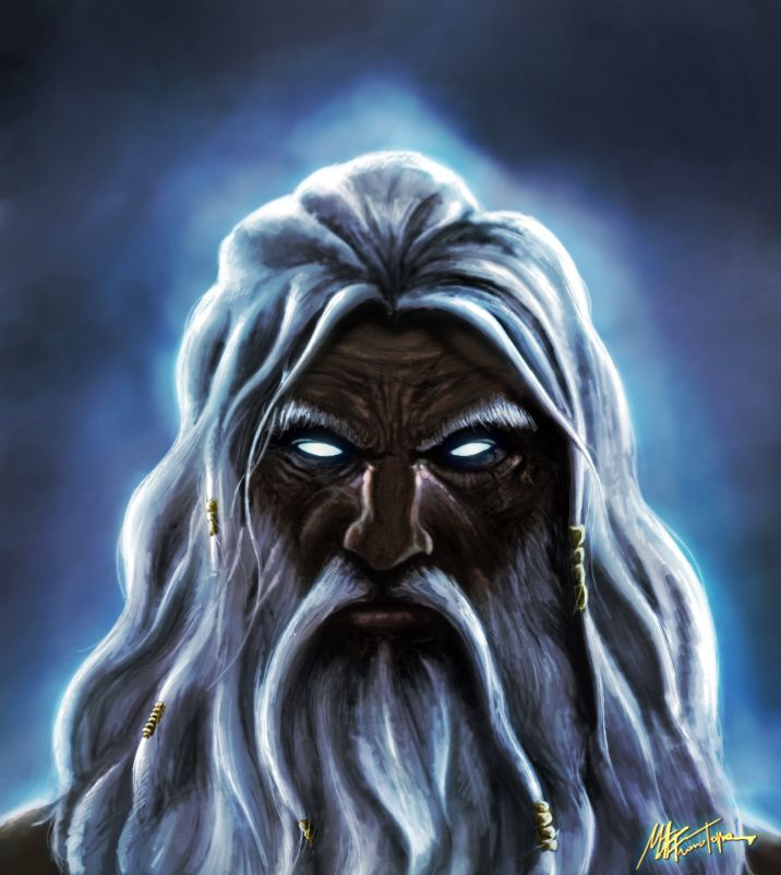 The description of the ancient greek king of the gods zeus