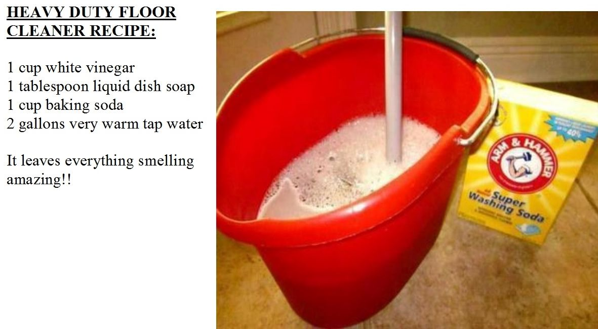 Heavy Duty Floor Cleaner Recipe Only Use This And It Leaves Floor Spotless 1 Cup White Vinegar 1 Tablespoon Liquid Dish Soap 1 C Diy
