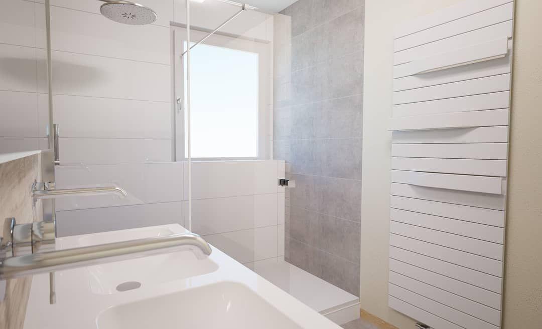 3d Badplanung Fur Eine Badesanierung Im Altbau Badezimmer Badezimmerideen Badezimmerdesign Badezimmerfliesen Bathtub Alcove Bathtub Bathroom