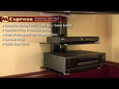 Dvd Wall Mount Component Shelf Av Express Review Youtube Dvd Player Shelf Wall Shelves Audio Shelf