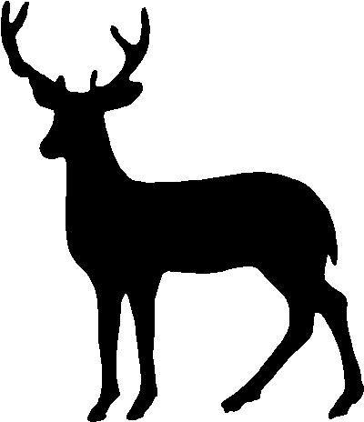Deer outline. Pin by leslie horner