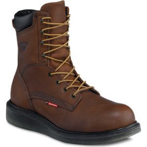 """Red Wing Men 8/"""" Inch Safety Boot Brown Leather Steel Toe Work USA Made"""