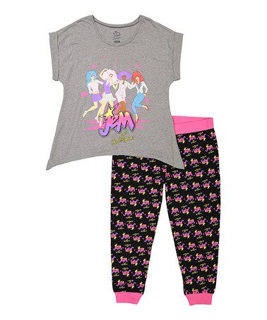 Another great find on  zulily! Gray Jem   the Holograms Pajama Set ... a5d92df45