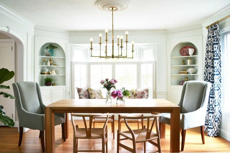 Charmant Room · Transitional Dining Room Built In Corner Cabinets ...