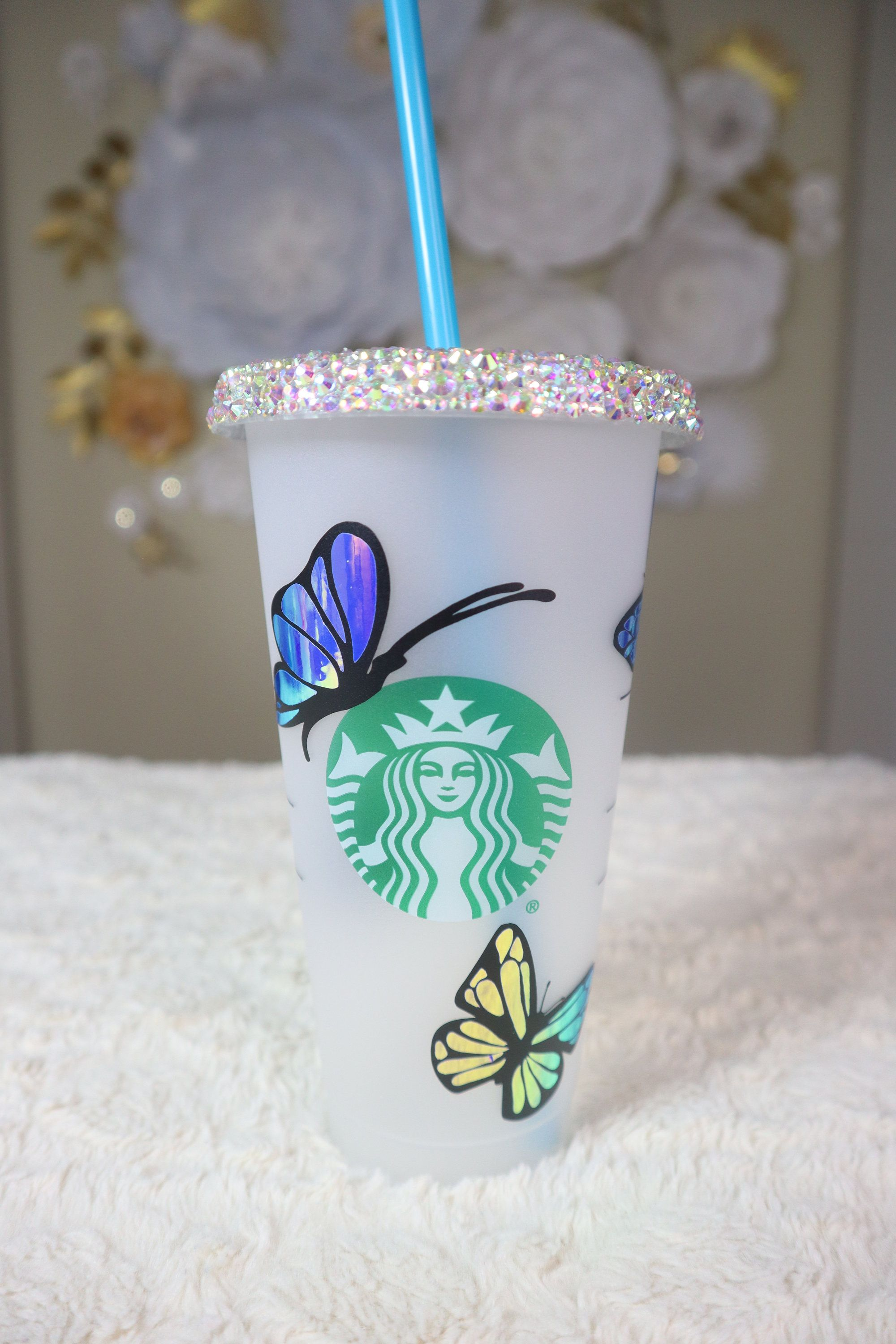 Butterfly Starbucks Tumbler,Custom Starbucks Cup,Personalized Butterfly Cup,Gift for Butterfly Lover Starbucks Cup Butterfly Starbucks Cup