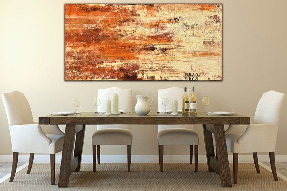 Art Painting rustic wall art 24x48 canvas por erinashleyart