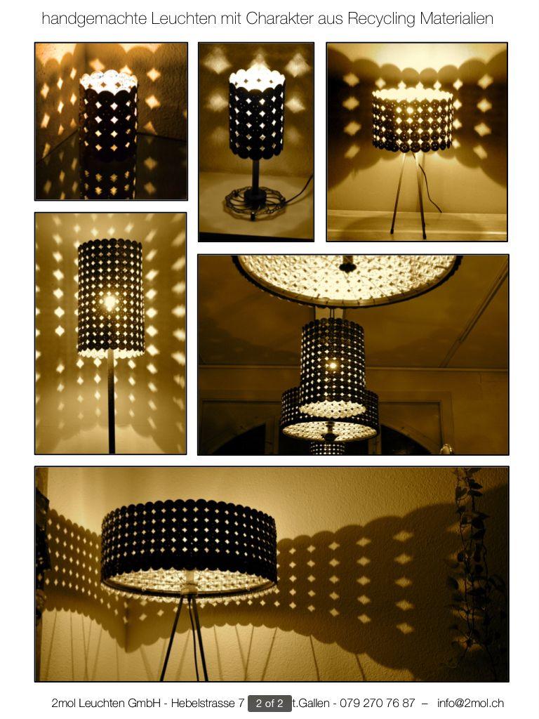 2mol Recycling Leuchten Familie Recycling Leuchten Lampenschirm