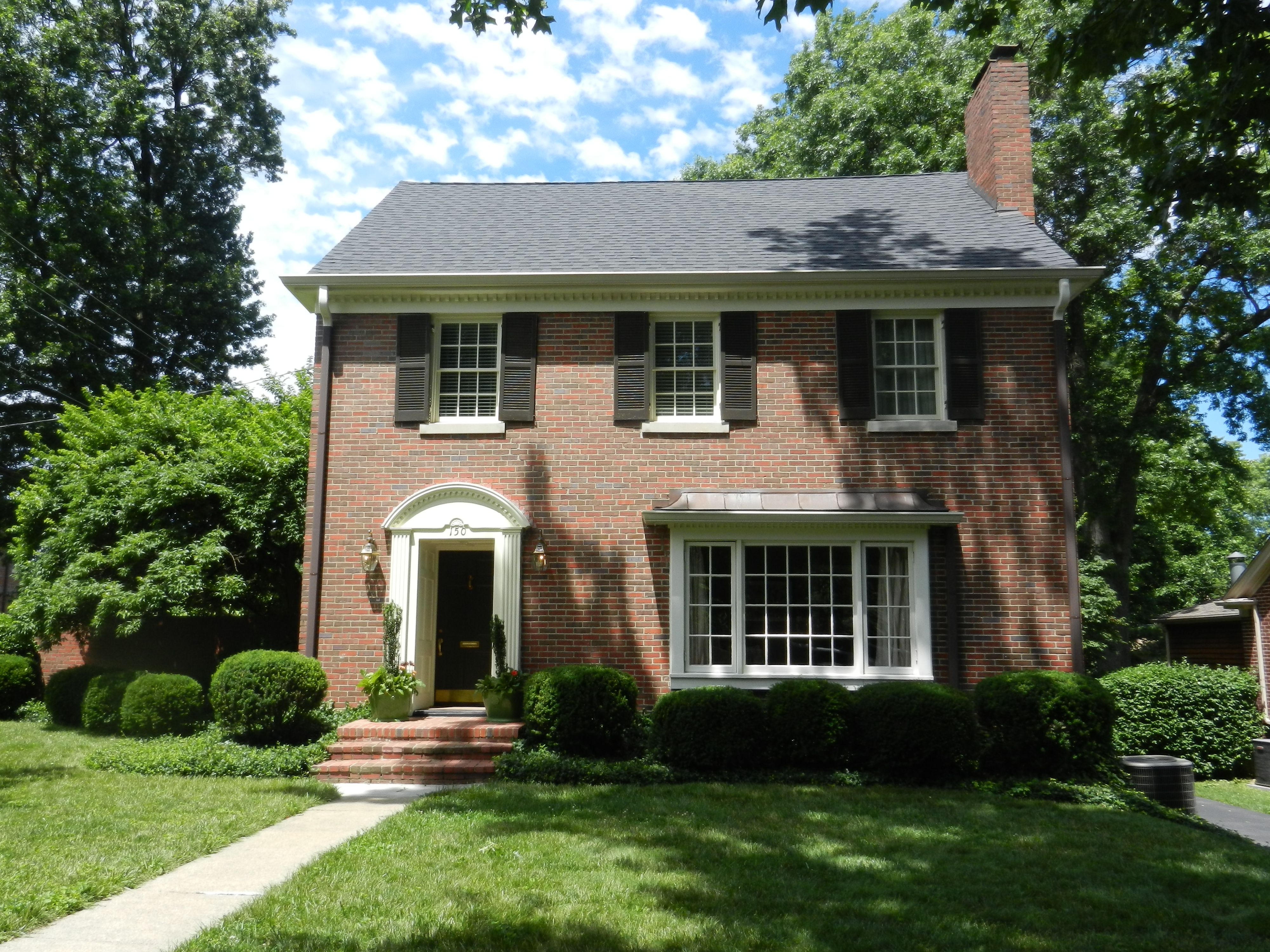 Brick federal style house google search home for Brick style homes