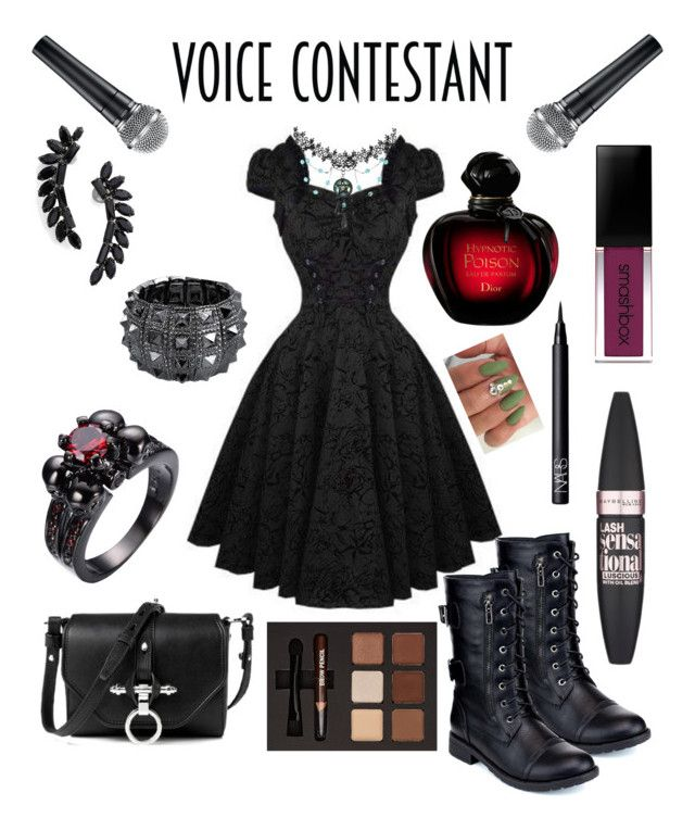 """The voice"" by tjoyreeves1 ❤ liked on Polyvore featuring Refresh, Cristabelle, Bling Jewelry, Maybelline, Smashbox, NARS Cosmetics, thevoice and YahooView"