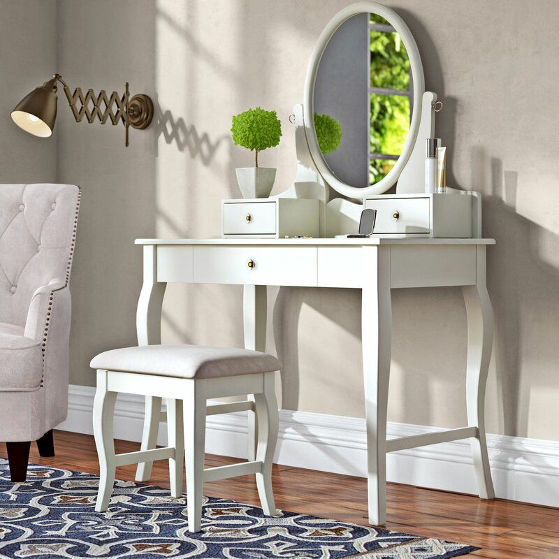 Naugle Vanity Set With Mirror In 2020 Vanity Set With Mirror Vanity Set Vanity