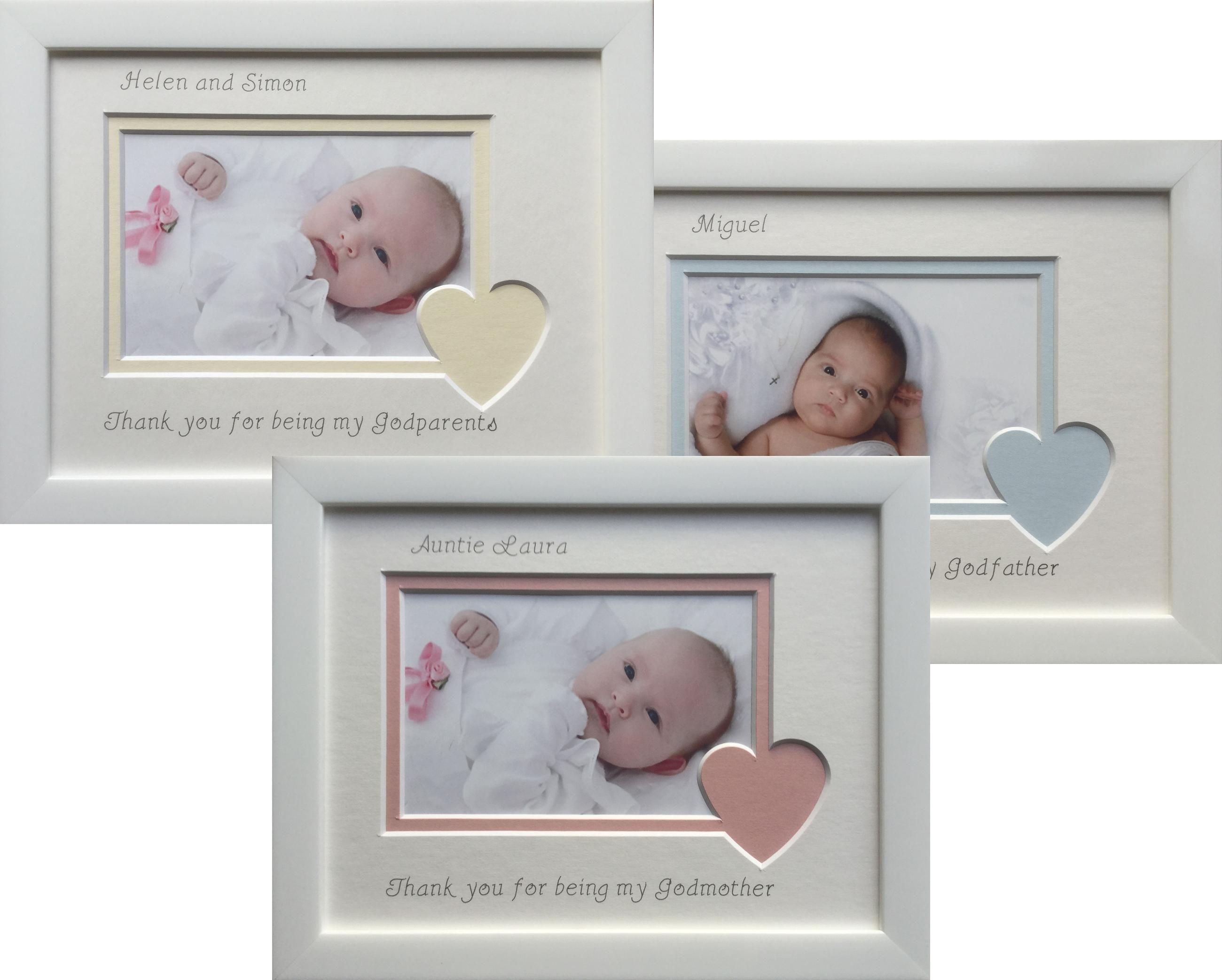 Personalised Thank you Godparents/Godmother /Godfather photo frame ...