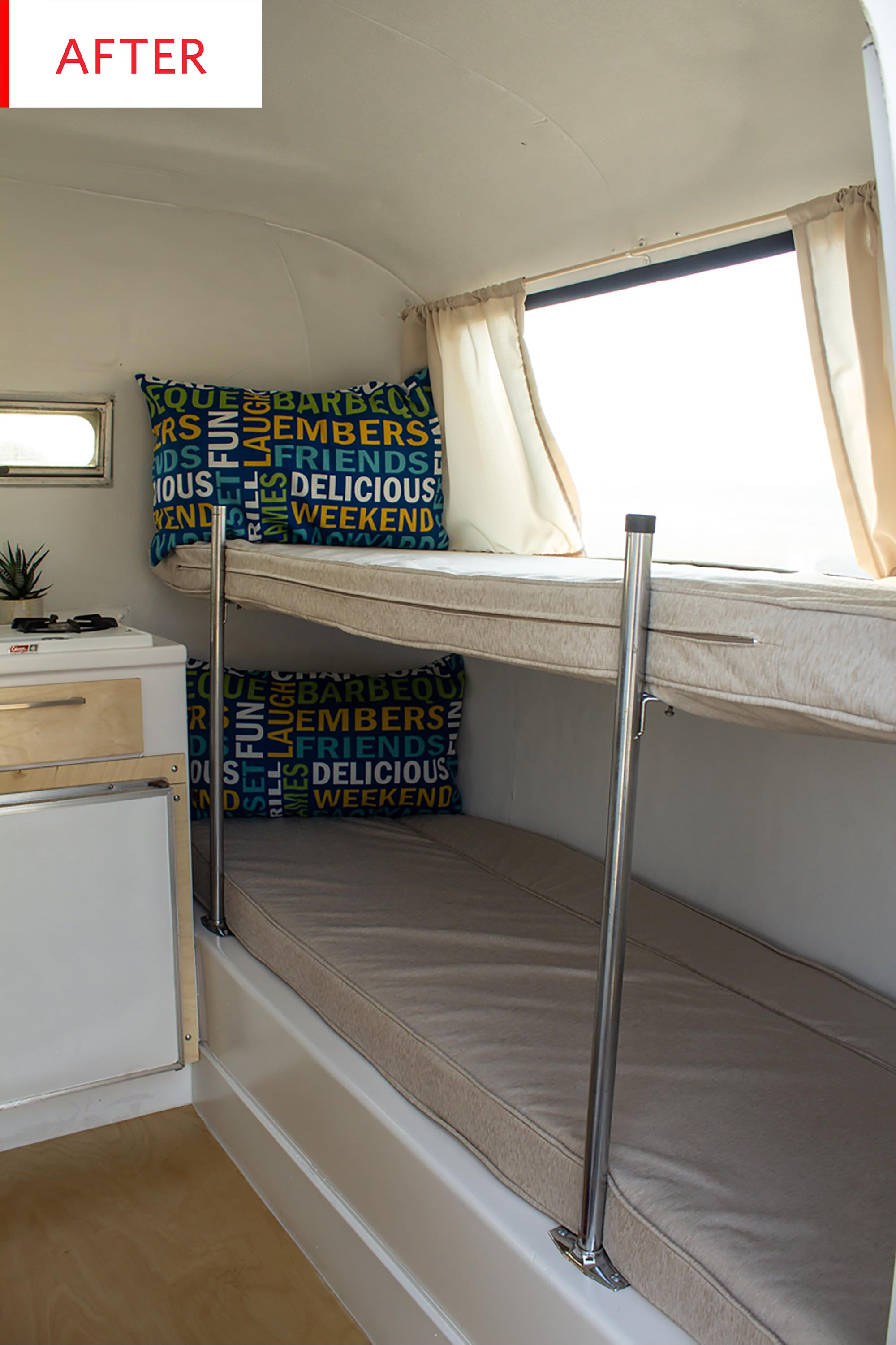 Before & After This Travel Trailer Is a Happy Surprise