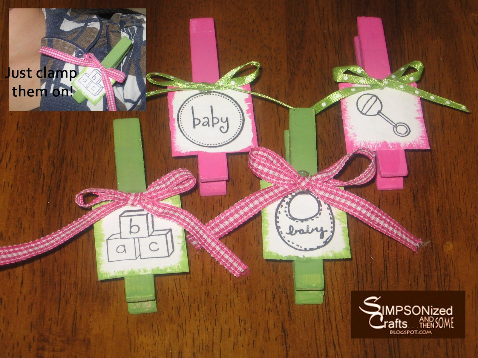 Baby Shower Ideas For Girls On A Budget Baby Shower Clothespin