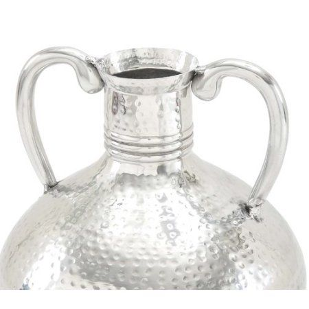 Curvaceous And Appealing Aluminum Flower Vase Silver Flower Vases