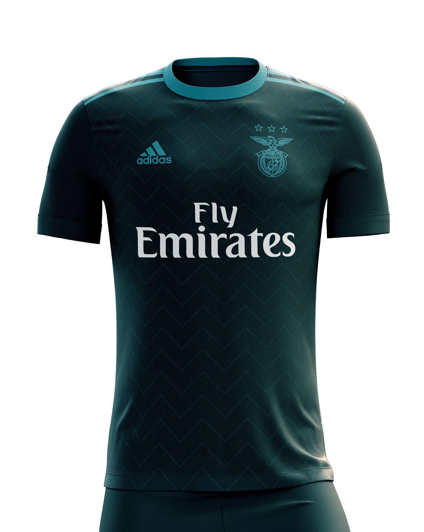 sneakers for cheap 1c6c9 30cba SL Benfica Football Kit 17/18. on Behance | Kits | Football ...