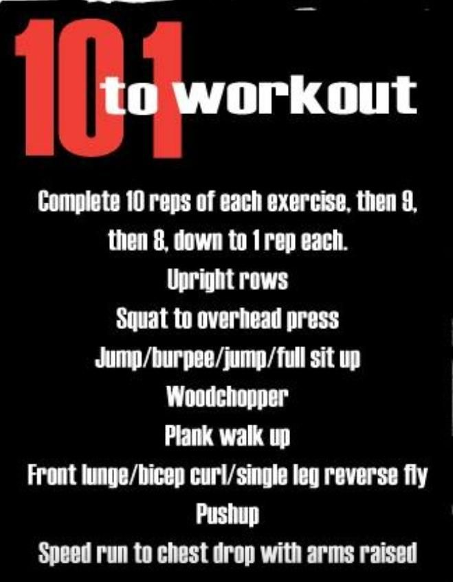 10 To 1 Descending Ladder Workout Ladder Workout All Over Body Workout I Work Out