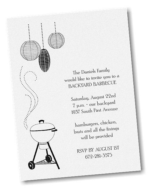 BBQ Grill Party Invitation