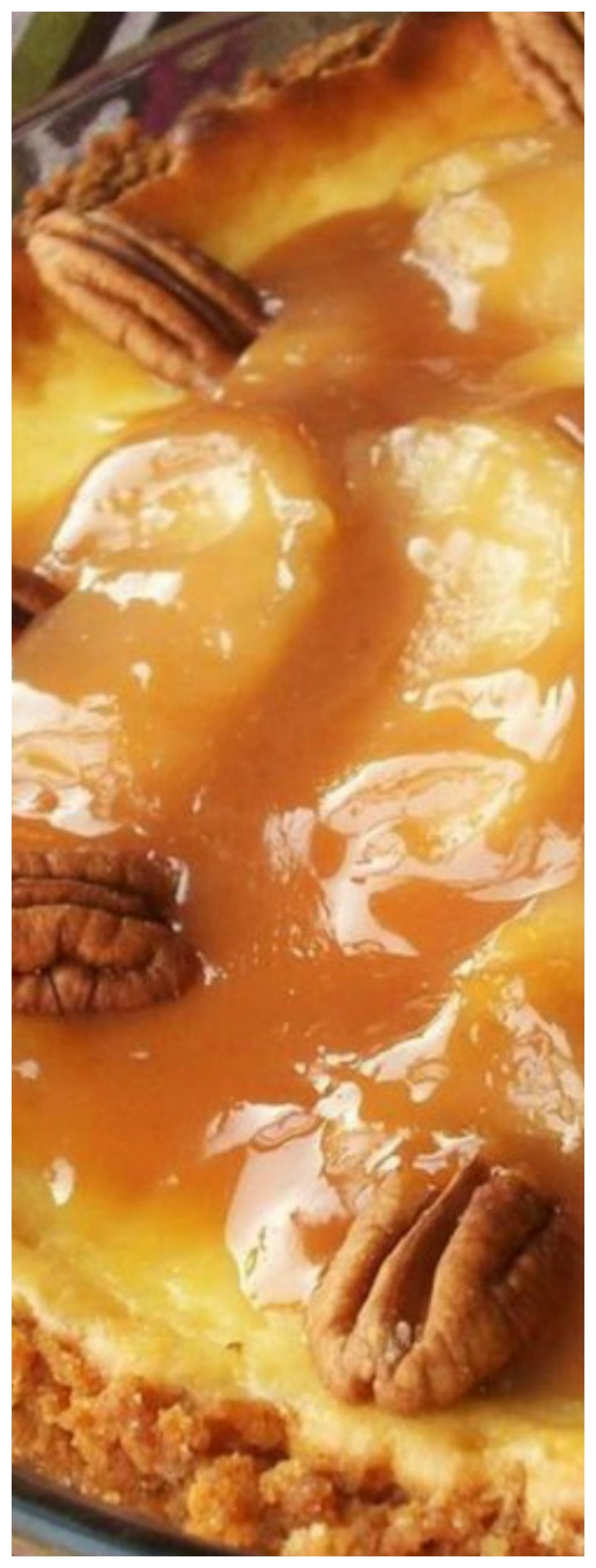 Caramel Apple Cheesecake Recipe #caramelapplecheesecake
