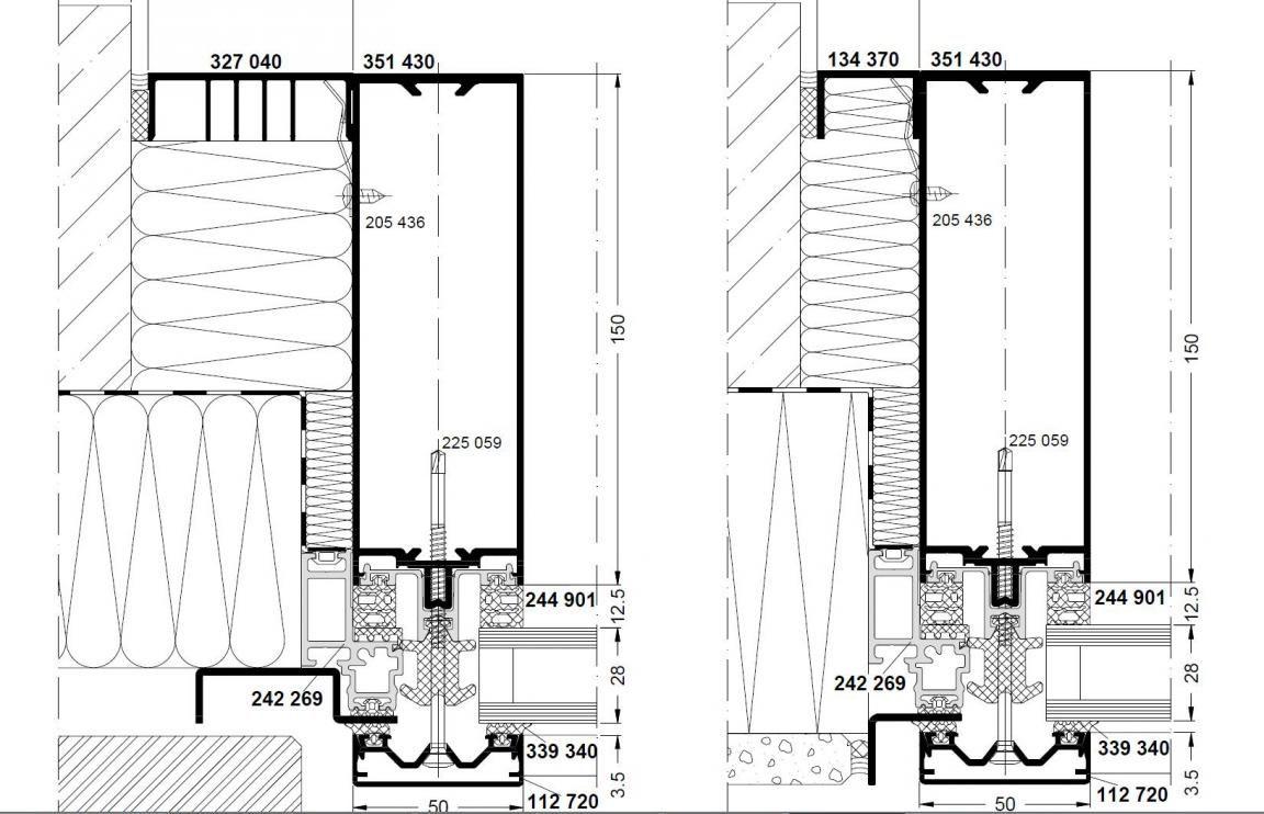 anschluss p r fassade zwischen zwei geb uden. Black Bedroom Furniture Sets. Home Design Ideas