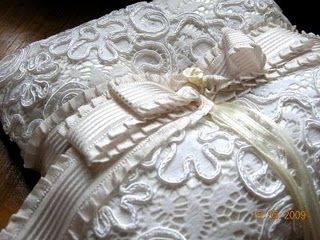 Exquisite French Corded Lace Ring Bearer Pillows