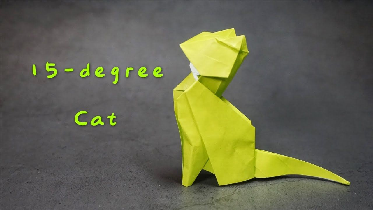 Origami - How To Make An Origami Cat - YouTube   720x1280