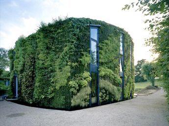 Fantastisk arkitektur med levende vegger