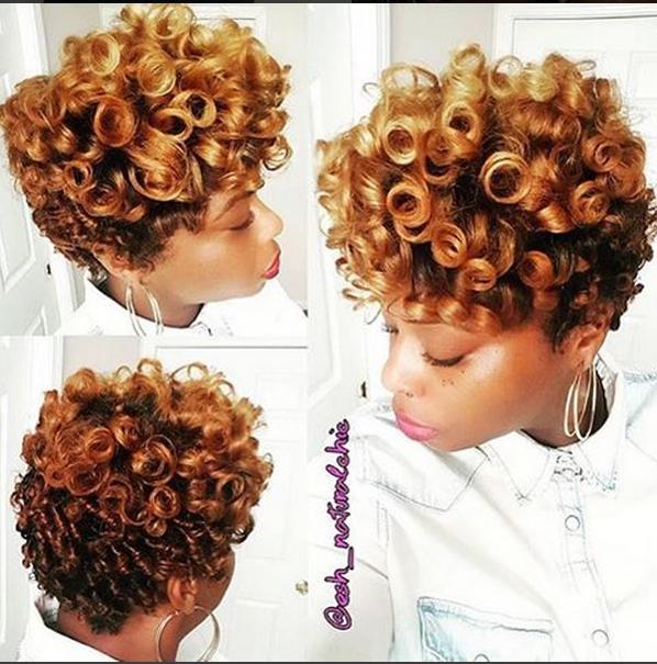 Heatless Roller Set Curls