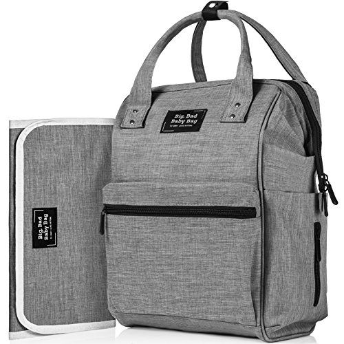 6773bbbde49c Backpack Diaper Bag with 3 Insulated Pockets and Large Co...