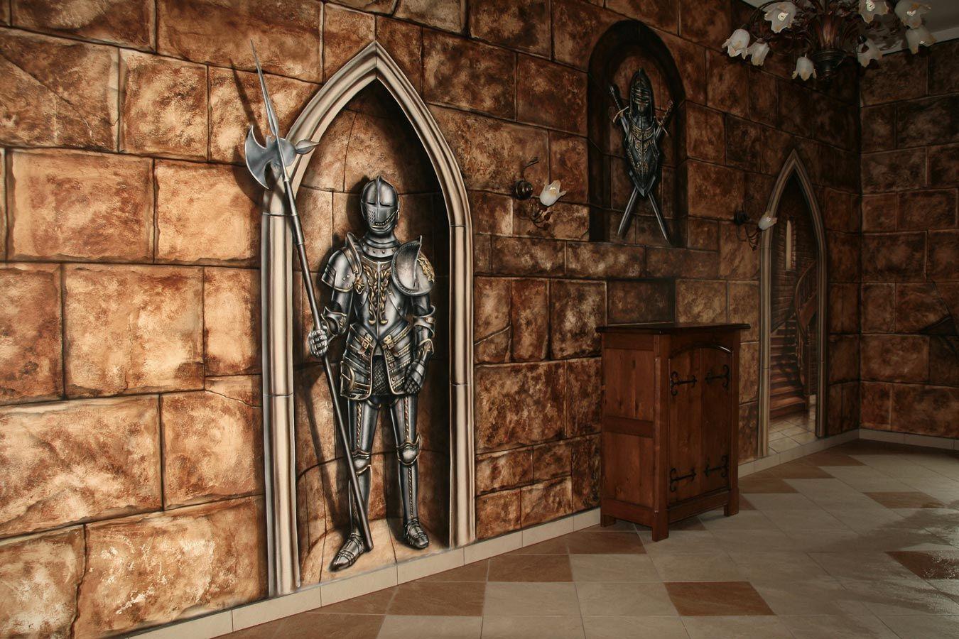 Medieval themed murals Camelot Interior design, Decor