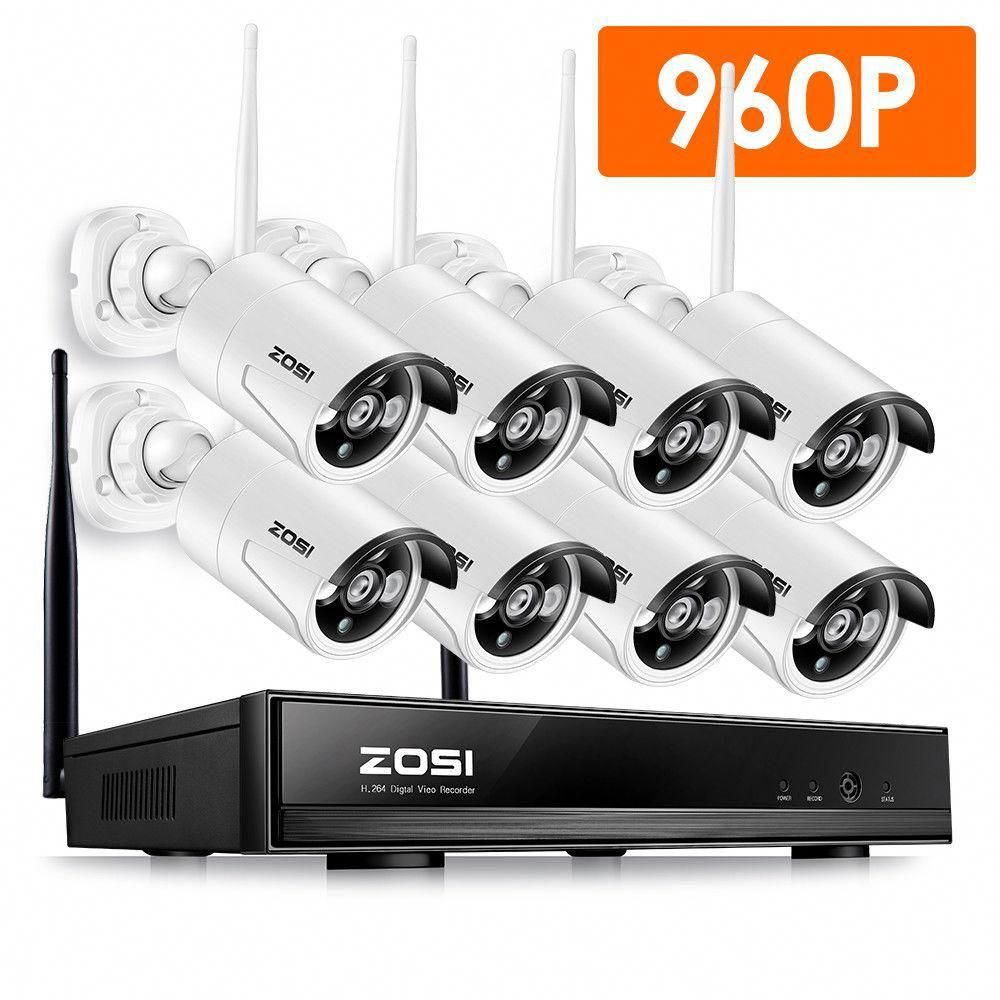 Zosi 8 Channel 960p Nvr Security Camera System With 8 Wireless Bullet Cameras Zswnvk B81300us The Home Depot Wireless Security Camera System Wireless Home Security Systems Cctv Security Cameras