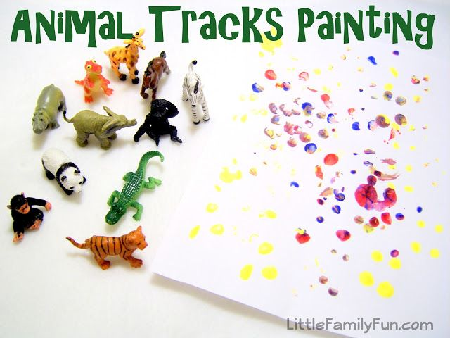 Colored Animal Tracks | Toddler painting, Activities for boys ...